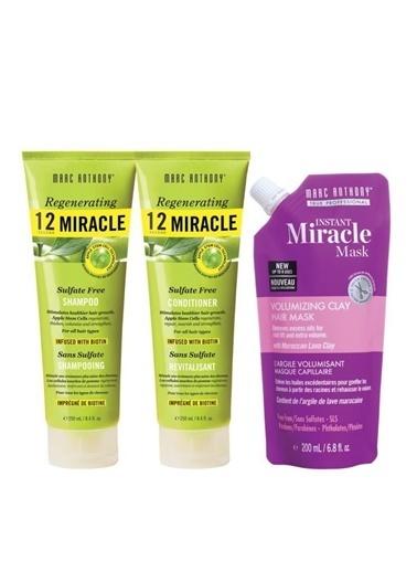 Marc Anthony Marc Anthony 12 Miracle Şampuan 250 Ml+ Krem 250 Ml+ Volumizing Maske 200 Ml Renksiz